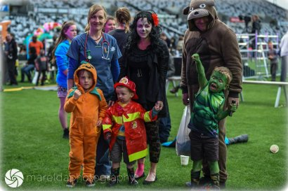 Costumed Family